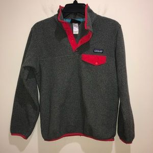 PATAGONIA Women's XS Synchilla Gray Red Pullover